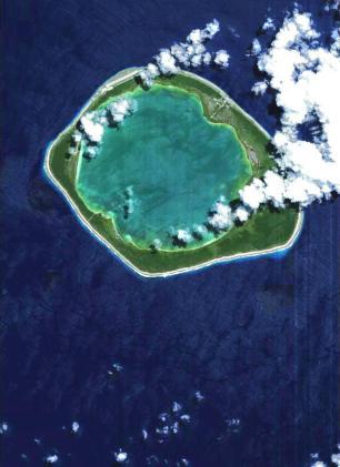 Atol Niau, no centro-sul do Oceano Pacífico,