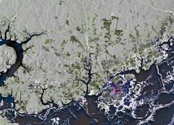 Parte da Bacia Amazônica no norte do Brasil