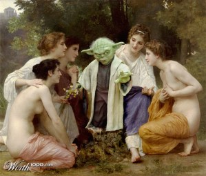 "Releitura de ""Admiration"", de William-Adolphe Bouguereau"