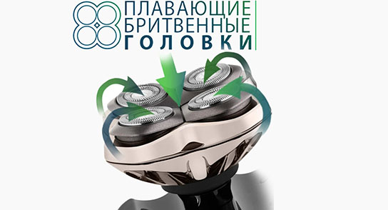 Мужская электробритва для головы Pitbul