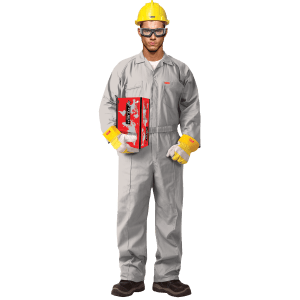 100% COTTON COVERALL WITHOUT REFLECTIVE - GREY