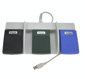 pédale triple USB HERGA