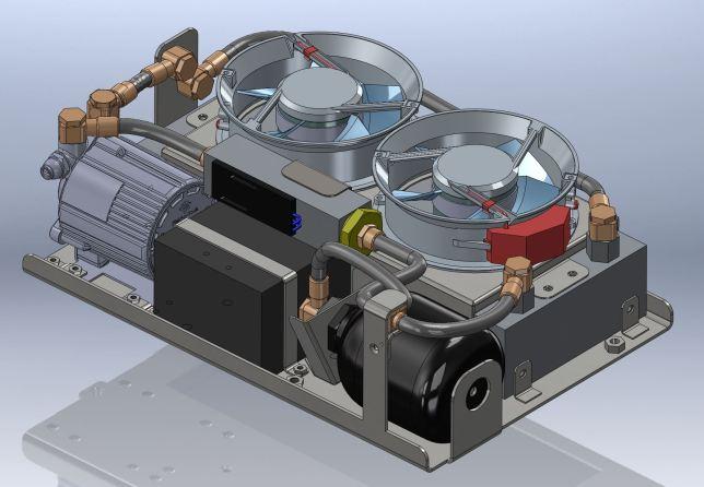 Refroidisseur à circulation de fluide à customiser