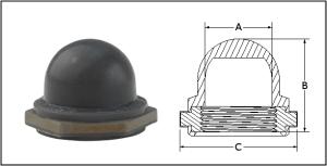 Capuchon pourbouton-poussoir avec insert hexagonal