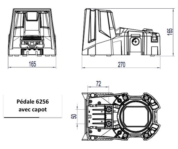 cote pedale 6256 avec capot