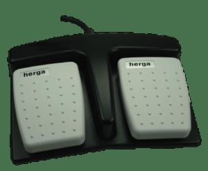 6226 - 0003 pedale double base noire