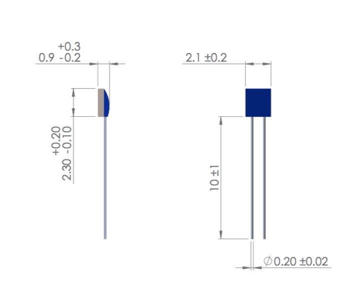 Dimension capteur ERTD