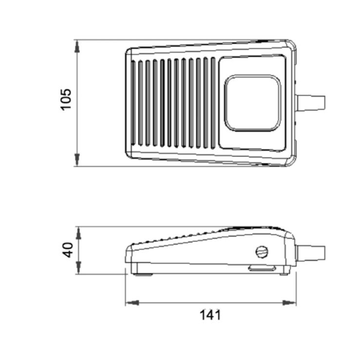 dimensions pedale 6210CC