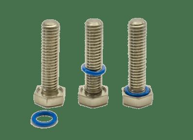 Principe de la vis étanche Montage joint silicone sur vis à tête hexagonale