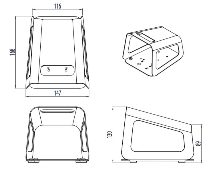 dimension capot pedale 6202-0002
