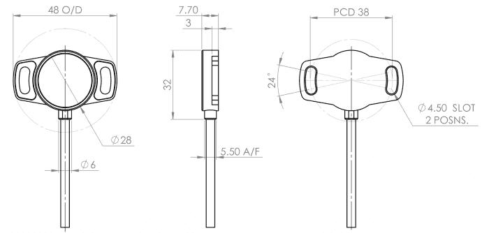 dimensions capteur xpk capteur rotatif variohm