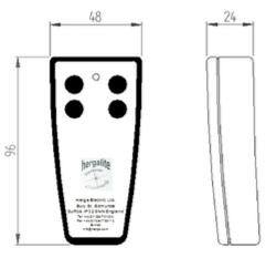 dimensions éméteur IR 6310