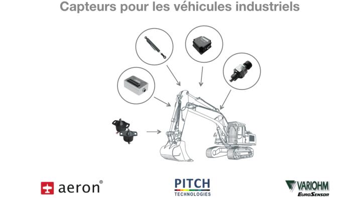 capteurs pour véhicule industriel : capteur de position, de pression, centrale inertielle, capteur linéaire, capteur rotatif, inclinomètre