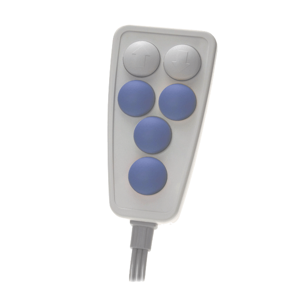 6310 telecommande 6 boutons bleu