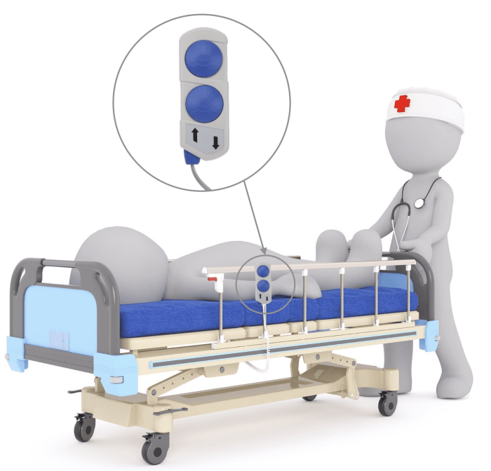 télécommande étanche pour lit médicalisé 6271