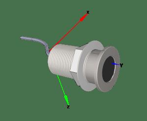 6461 3D bouton interrupteur IF  infrarouge