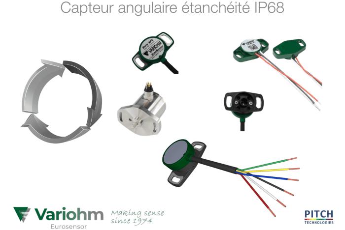 Capteur angulaire étanchéité IP68