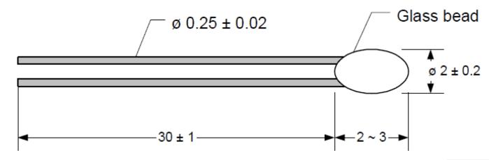 dimensions sonde thermique g1b ntc pitch