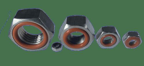 écrous standards avec joint silicone