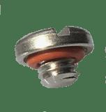 vis tete fendue courte avec rondelle silicone usinée
