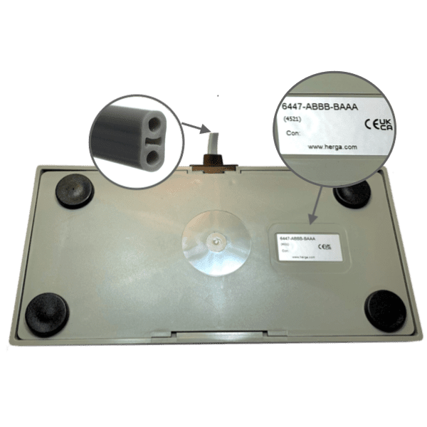 6447-ABBB-BAAA Commande à air pédale double grise herga