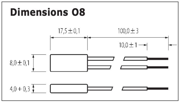 Dimensions Limiteur de température O