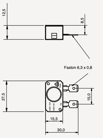 Interrupteur filaire céramique hautes températures