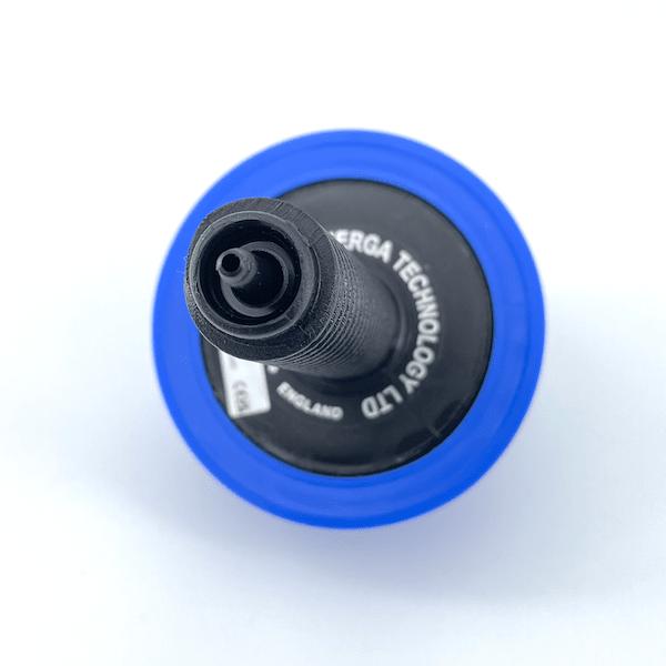 bouton a air 4mm pour tube 3mm 63mm ext blue 6433
