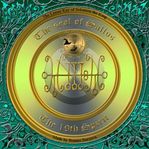 Dämon Sallos wird in der Goetia beschrieben und dies ist sein Siegel.