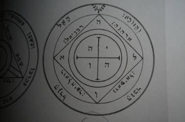 This is the 5th pentacle of Saturn from Clavicula Salomonis.