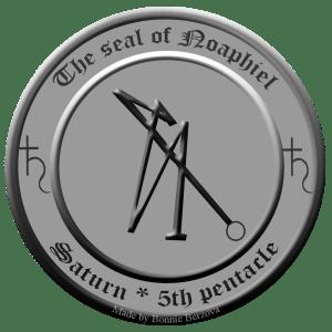 Das Siegel von Noaphiel aus dem 5. Pentakel des Saturn.