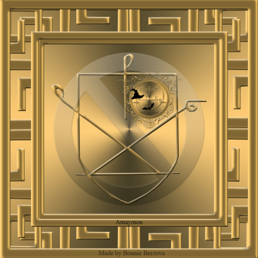 This is the seal of Amaymon/ Sworn book of Honorius