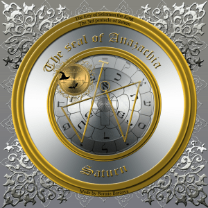 This is the seal of Anazachia/3rd pentacle of Saturn.