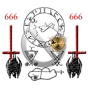 The seal of Lucifer and Clauneck from Grimoirium Verum.