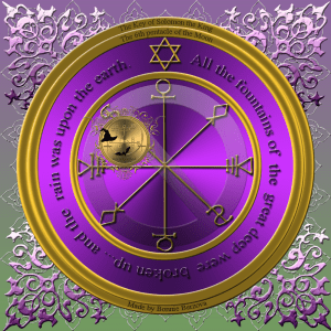 This is the 6th pentacle of the Moon from Clavicula Salomonis.
