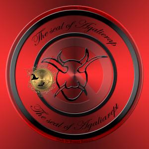 Dies ist das Siegel des Dämons Agalierap aus Grimorium Verum.