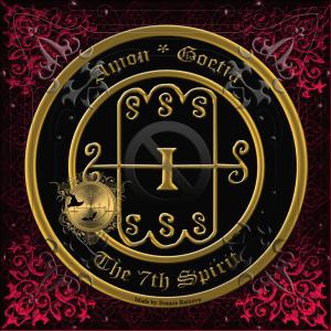 悪魔AmonはGoetiaで説明されており、これが彼のマークです。