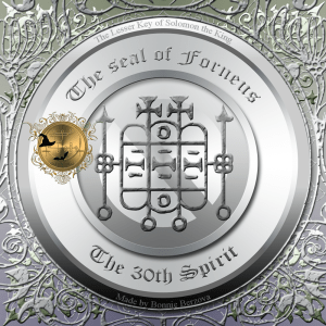 Demon Forneus is described in the Goetia and this is his seal.
