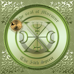 Demon Murmur is described in the Goetia and this is his seal.