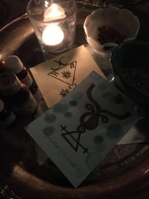 Amprodias는 Set 's Tunnel 11에 사는 악마입니다. 이것은 Amprodias의 마법 주문입니다.