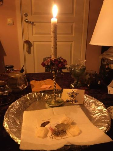 This is a ritual with Lucifer, Barzabel and Graphiel. This courage spell was done for my pet.