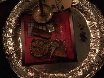 This is a courage spell with Barzabel for myself. I wear the ritually charged jewellery day and night.