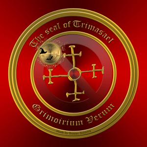 Demon Trimasael is described in the Grimorium Verum. This is his seal.