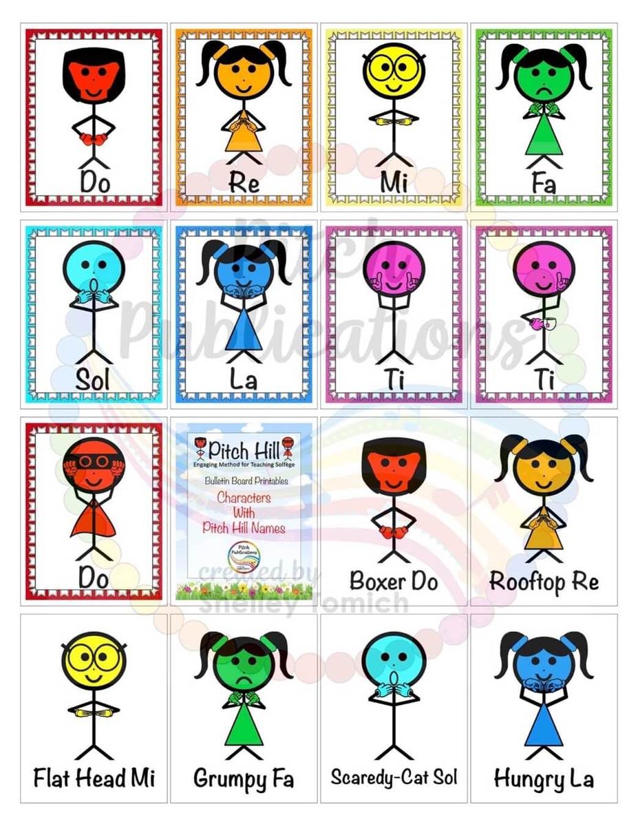 Pitch Hill Teaching Solfege Bulletin Board Printables For Elementary Music