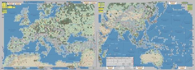 World in Flames - mapa