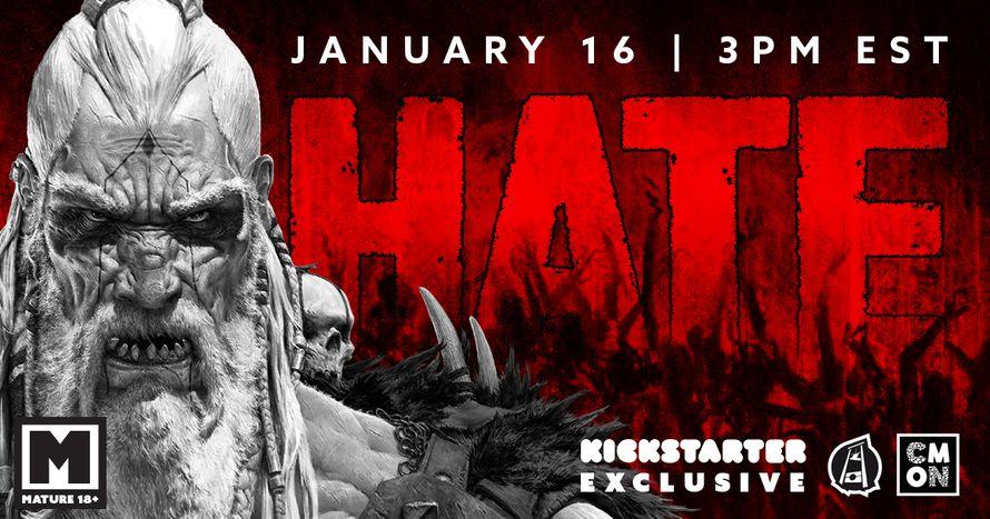 Najava za HATE Kickstarter kampanju