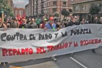 Marcha por Ezkerraldea: Contra el paro y los recortes sociales... GASTU MILITARRIK EZ!!!