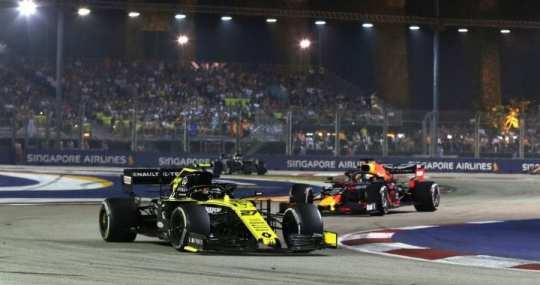 nico hulkenberg - renault - gp de singapur 2019 f1 carrera