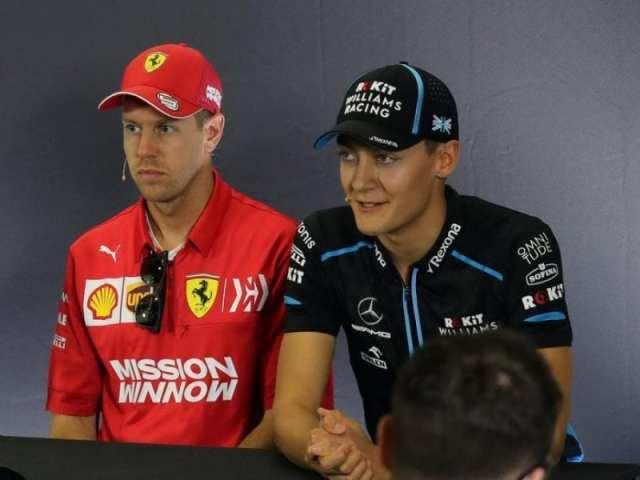 """George Russell: """"Las luchas con Sebastian Vettel me ha ayudado para mejorar como piloto"""""""