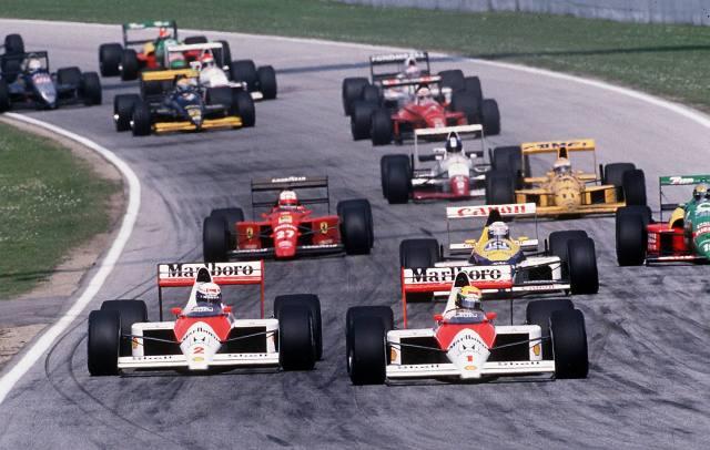 Acción en Rio de Janeio durante el GP de Brasil de F1 del año 1989